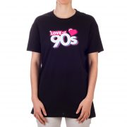 Camiseta logo Love the 90s Logo negra frontal chica