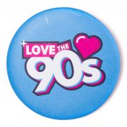 Chapa Love the 90s logo azul