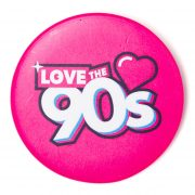 Chapa Love the 90s logo rosa
