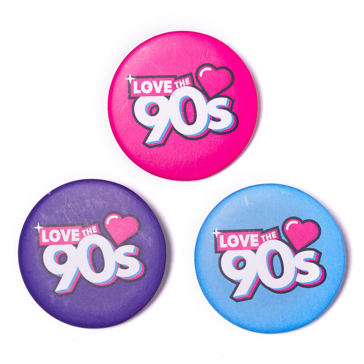 Chapas logo Love the 90s logo todas