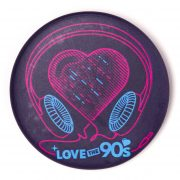 Chapa Love the 90s music morada oscura