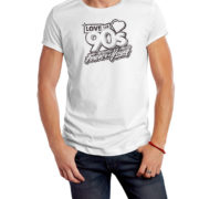 Camiseta-Forever-Young-Blanco-Negro