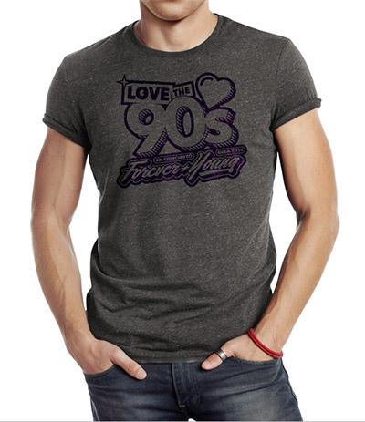 Camiseta-Forever-Young-Gris
