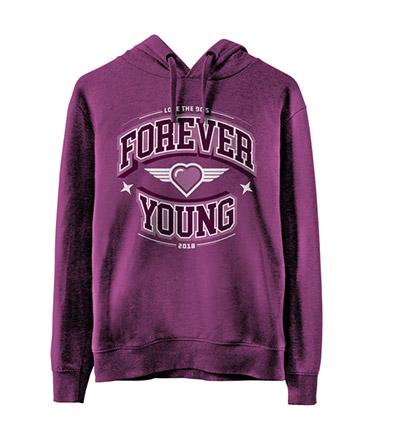 bastante agradable 11dd5 85a53 Sudadera Forever Young