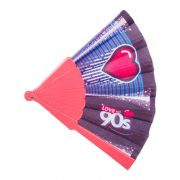 Abanico Love the 90s abierto logo corazon